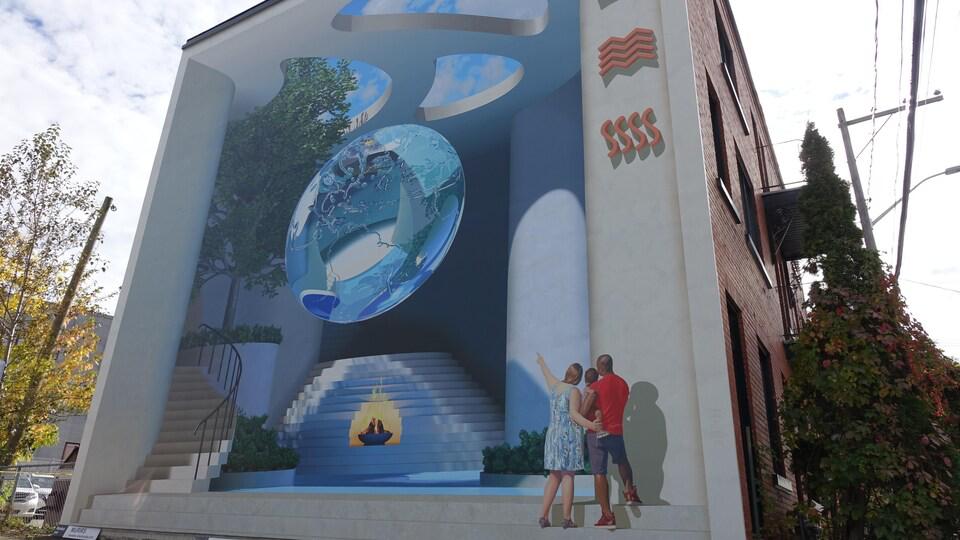 Une 18e murale «tournée vers le présent» à Sherbrooke